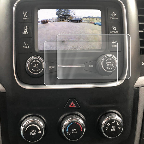 Red Hound Auto 2013-2018 Compatible with Dodge Ram 1500 2500 3500 UConnect 5.0 RA2 Screen Saver 2pc Custom Fit Invisible High Clarity Touch Display Protector Minimizes Fingerprinting 5 Inch