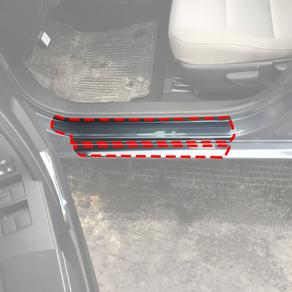 Red Hound Auto Door Sill Paint Protection Film Compatible with Toyota Corolla 2014 2015 2016 2017 2018 2019 4 Door 10 Piece PPF Custom Clear Protector Invisible Cover