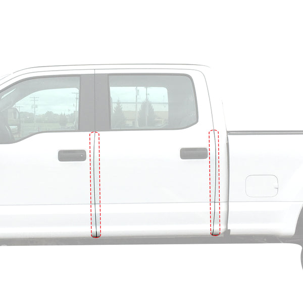 Red Hound Auto Door Edge Lip Guards 2017-2019 Compatible with Ford Super Duty F250/F350 Crew Cab 4pc Clear Paint Protector Film Not Universal Pre-Cut Custom Fit