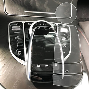 Red Hound Auto for Touchpad Controller with Scroll Wheel Compatible with Mercedes-Benz COMAND C/GLC/GLE/S Class Sedans Coupes & SUVS Screen Saver 4pc Invisible High Clarity Pad Protector
