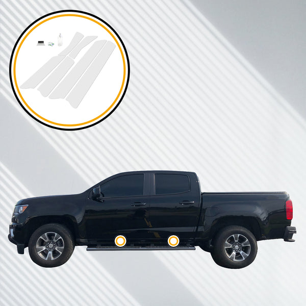 Red Hound Auto Door Sill Paint Protection Film Compatible with Chevrolet Colorado GMC Canyon Crew Cab 2015 2016 2017 2018 2019 4 Door 6 Piece PPF Custom Clear Protector Invisible Cover