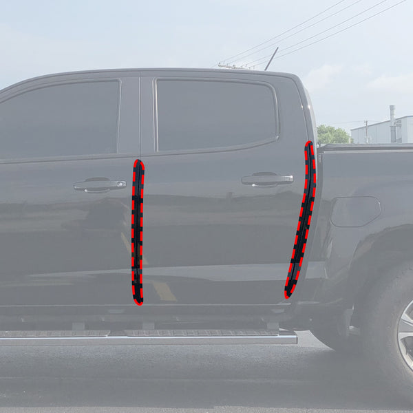 Red Hound Auto Door Edge Lip Guards Compatible with Chevrolet Chevy GMC Colorado Canyon Crew Cab 2015 2016 2017 2018 2019 4pc 4 Door Clear Paint Protector Film Not Universal Pre-Cut Custom Fit