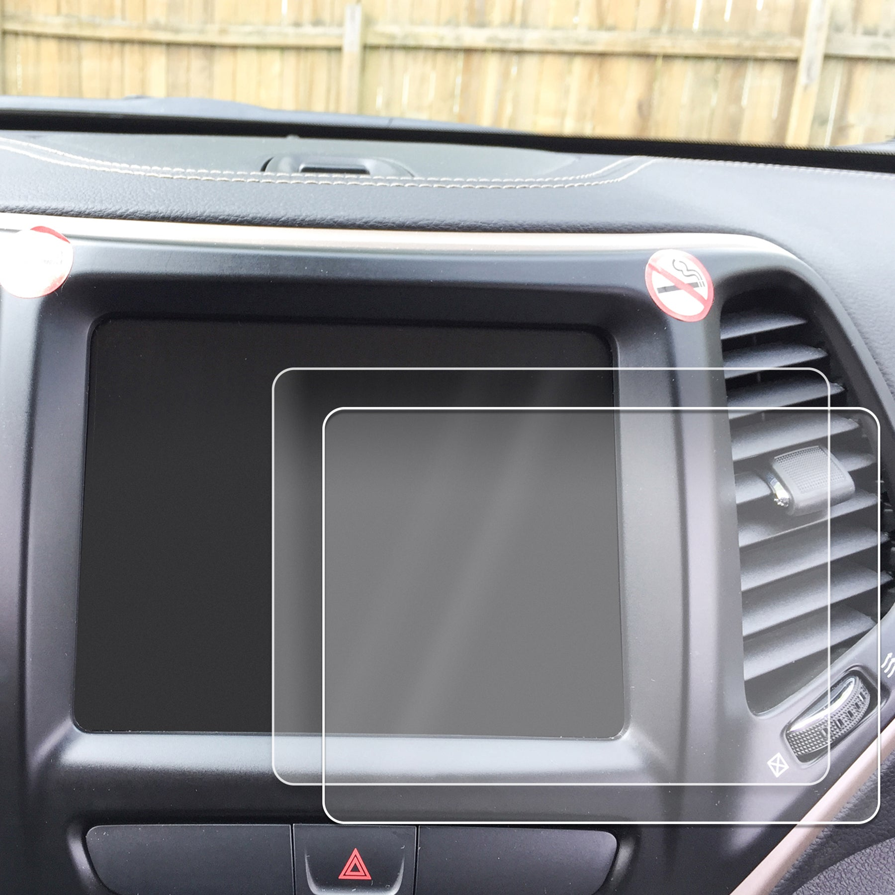 Red Hound Auto Screen Savers 2pc Custom Fit Compatible with 2014-2019 Jeep Cherokee U Connect Invisible High Clarity Touch Display Protector Minimizes Fingerprinting 8.4 Inch