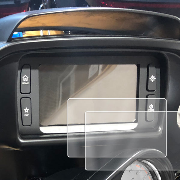 2) 2014-2018 Compatible with Harley Davidson Road Glide Boom Box Motorcycle Screen Saver 2pc Custom Fit Invisible High Clarity Touch Display Protector Minimizes Prints 6.5 Inch