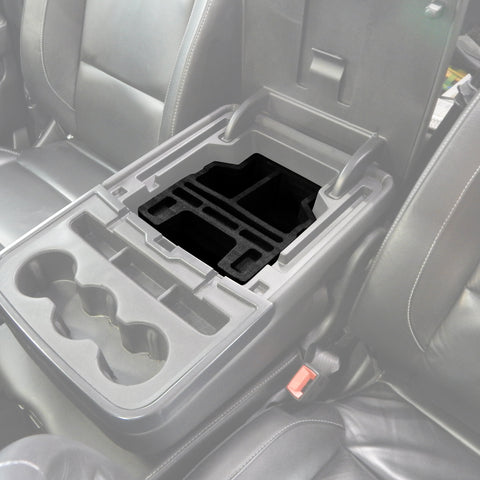 Center Console Organizer 3pc fits 14-18 Chevy Silverado 1500/2500 Fold Down Console