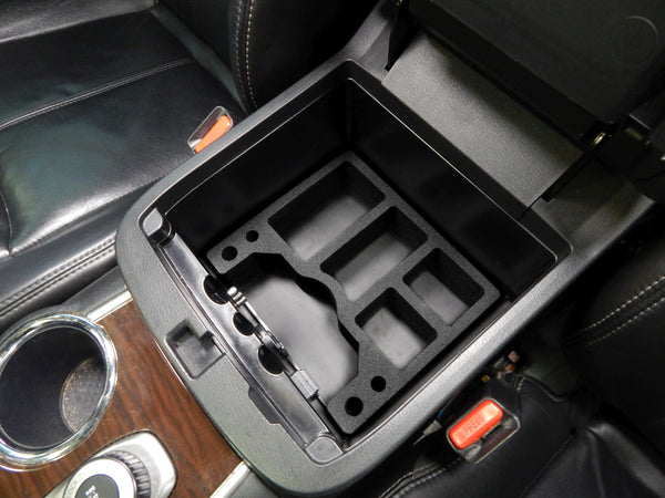 Red Hound Auto Black Center Console Organizer 1 Piece Compatible with Nissan Pathfinder 2013 2014 2015 -