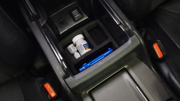 Red Hound Auto Black Center Console Organizer 1 Piece Compatible with Honda Accord 2008-2011 -