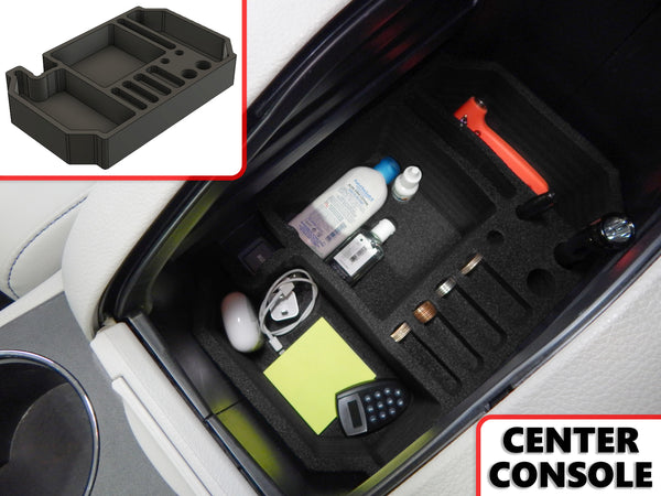 Red Hound Auto Center Console Organizer Vehicle Insert Compatible with Toyota Highlander 2014 2015 2016 2017 2018 2019 Black Anti-Rattle
