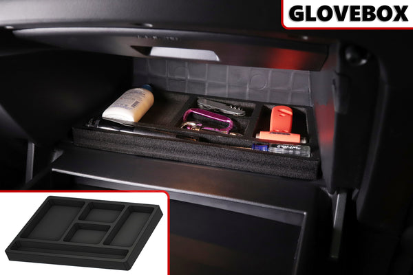 Red Hound Auto Glove Box Organizer Vehicle Organizational System Insert Compatible with Kia Soul 2014-2019 Black Anti-Rattle