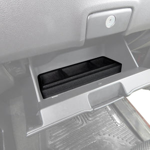 Red Hound Auto Glove Box Organizer Insert Organizational System Compatible with Chevy Chevrolet GMC Silverado Sierra 1500 2500 2015 2016 2017 2018 Black  Full Floor Console Only