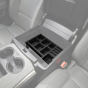 Red Hound Auto Full 4 Piece Vehicle Organizer Center Console Glove Box Inserts Compatible with Chevy Chevrolet GMC Tahoe Yukon 2015 2016 2017 2018 2019 USA Made Full Floor Console Only