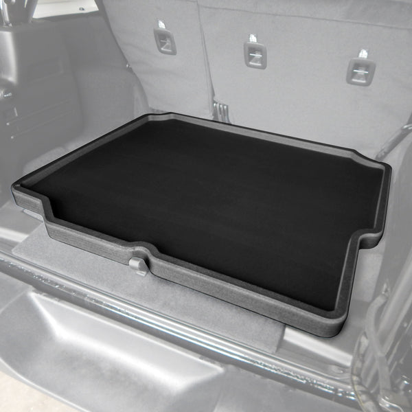 Red Hound Auto Cargo Trunk Mat Liner Tray Custom Fit Floor Black Foam Compatible with Jeep Wrangler Unlimited 4-Door 2018-2019 (JL) Without Subwoofer - Anti-Rattle Waterproof Protector