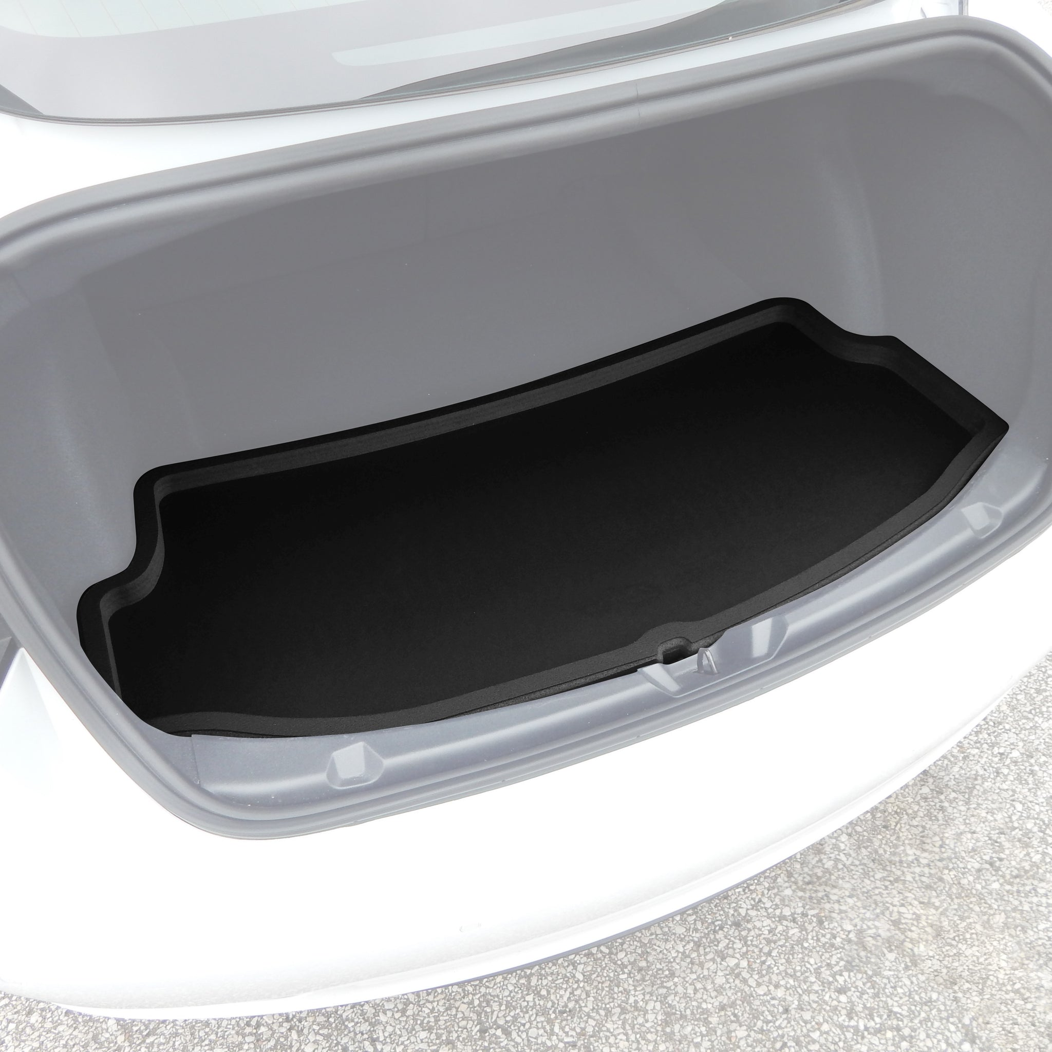 Red Hound Auto Rear Trunk Mat Liner Cargo Tray Custom Direct Fit Floor Black Foam Compatible with Tesla Model 3 2017-2019 Anti-Rattle Waterproof Protector Washable with Tall Raised Lip