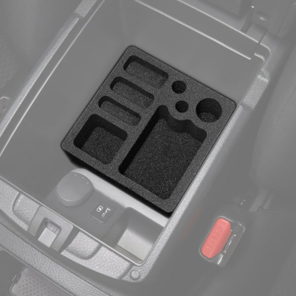 Red Hound Auto Center Console Organizer 2 Piece Stacking Set Vehicle Organizational System Inserts Compatible with Nissan Rogue Sport 2017-2020 Black Anti-Rattle