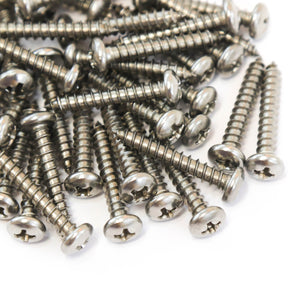 Red Hound Auto 100 Marine Pan Head Self Tapping Screw Set Type A No. 8 x 1 Inch 304 SS Stainless Steel Corrosion Resistant