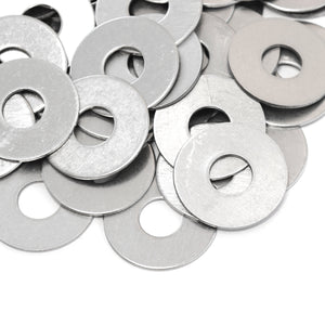 "Red Hound Auto 40 Flat Fender Washers Set Fits 1/2"" .531 Inch ID Hole Size, 1.5 Inch OD for 304 SS Stainless Steel Corrosion Resistant"
