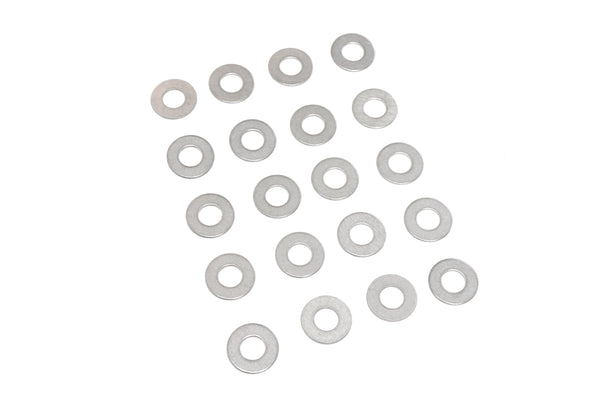Red Hound Auto 20 Flat Standard Washers Set Fits 3/8 Inch .406 Inch ID Hole Size, .875 Inch OD for 304 SS Stainless Steel Corrosion Resistant