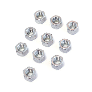 Red Hound Auto 10 Nylon Insert Lock Nut Set 3/8 Inch Diameter Hole Size for Bolt or Threaded Stud 304 SS Stainless Steel Corrosion Resistant 16 Standard Coarse Thread