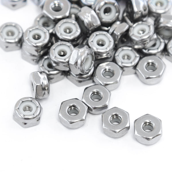 Red Hound Auto 50 Nylon Insert Lock Nut Set Number 6 Diameter Hole Size for Bolt or Threaded Stud 304 SS Stainless Steel Corrosion Resistant 32 Standard Coarse Thread