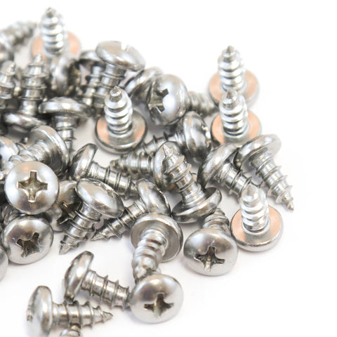 Red Hound Auto 40 Marine Pan Head Self Tapping Screw Set Type A No. 8 x .375 Inches for Wood Metal Plastics 8 x 3/8 304 SS Stainless Steel Corrosion Resistant