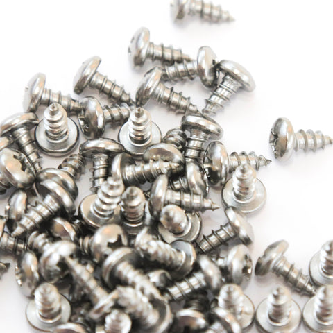 Red Hound Auto 100 Marine Pan Head Self Tapping Screw Set Type A No. 8 x .375 Inches for Wood Metal Plastics 8 x 3/8 304 SS Stainless Steel Corrosion Resistant