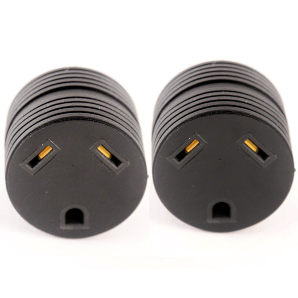 2 RV Electrical Adapter 15 Amp Male to 30 a Female Plug Round Grip Motorhome