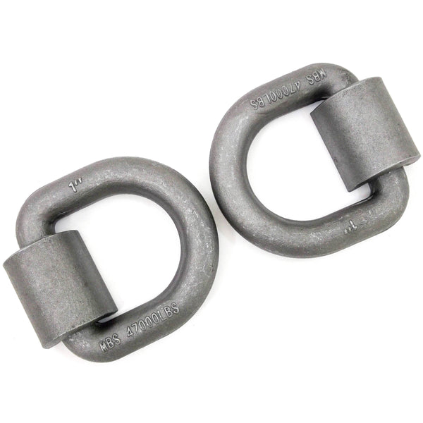 Red Hound Auto (2) 1x3 Forged Weld on D Ring Chain Tie Down 47,000