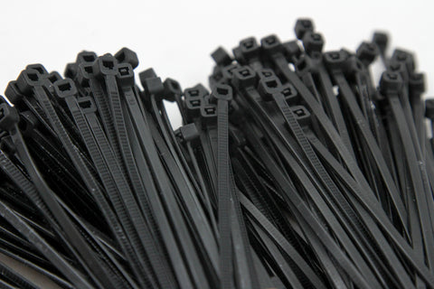1000-Pack Heavy Duty 4 Inches (18lbs) Zip Cable Tie Down Strap Wire Uv Black Nylon Wrap