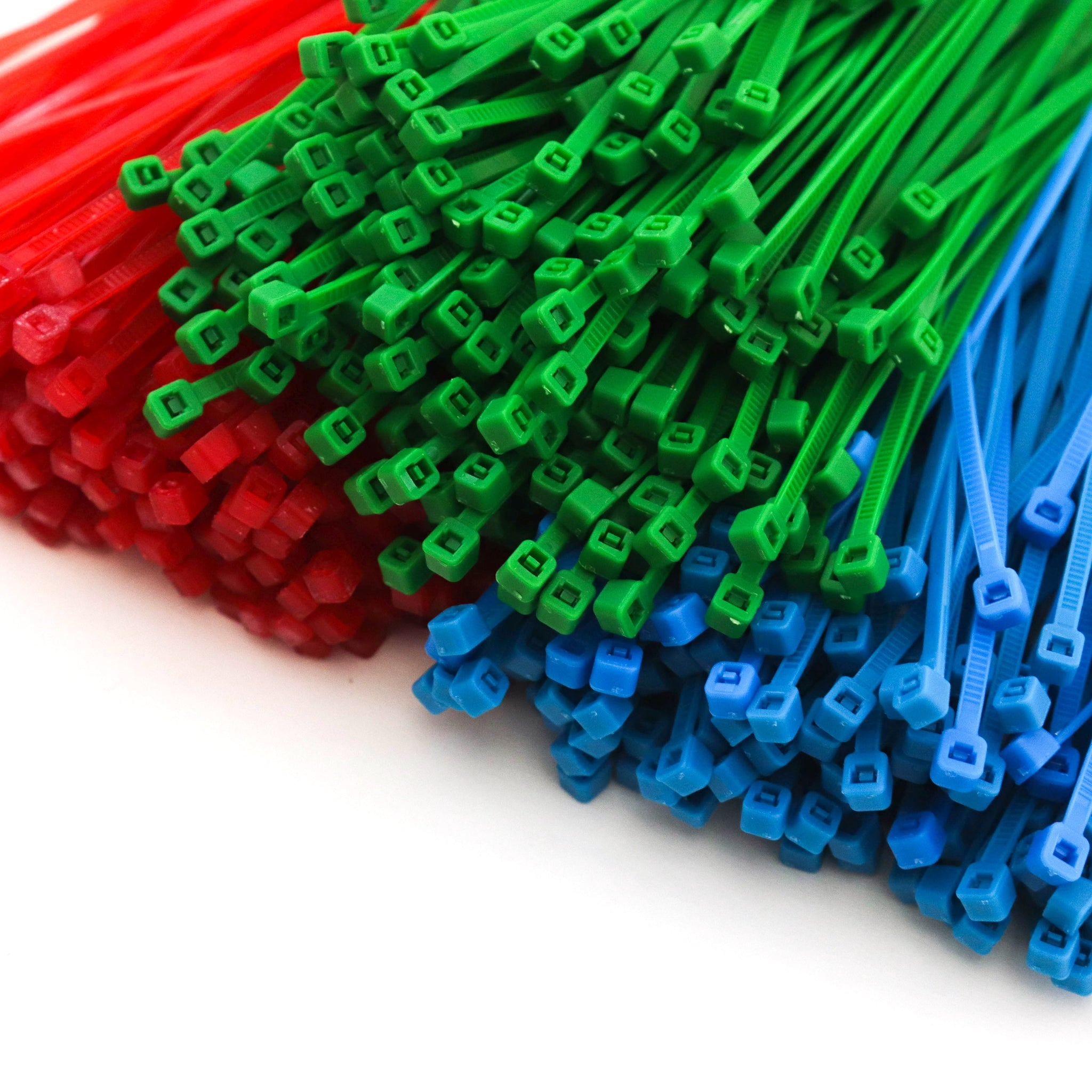 3000 Heavy Duty 4 Inch 18 Pound Color Cable Ties Nylon Wraps 3 Colors (1000 Red, 1000 Green, 1000 Blue) Deluxe Bulk Combo Kit