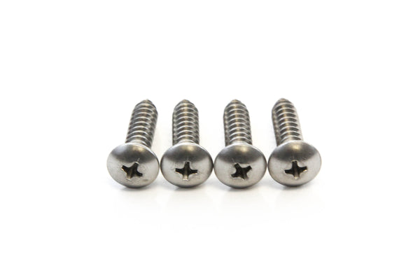 Red Hound Auto 4 Stainless Steel License Plate Screws Rust Resistant Car Truck Frame Fasteners