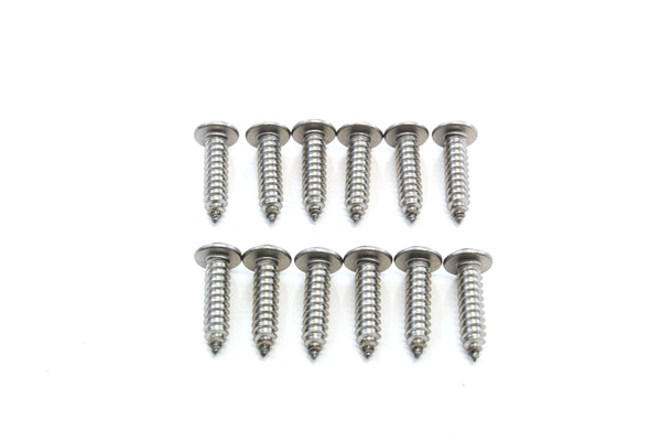 Red Hound Auto 12 Stainless Steel License Plate Screws Rust Resistant Car Truck Frame Fasteners