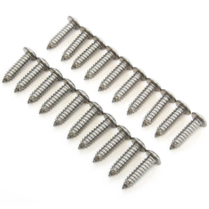 Red Hound Auto 20 Stainless Steel License Plate Screws Rust Resistant Car Truck Frame Fasteners