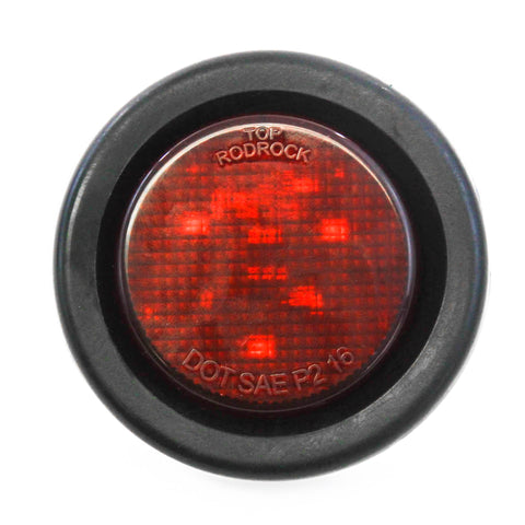 Red LED 2 Inches Round Side Marker Light Kits with Grommet Truck Trailer RV
