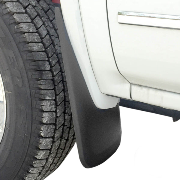 Red Hound Auto Compatible with 2014-2018 GMC Sierra 1500 & 2019 1500 Limited & 2015-2019 2500 3500 Mud Flaps Guards Splash Front Molded 2pc Set, See Description