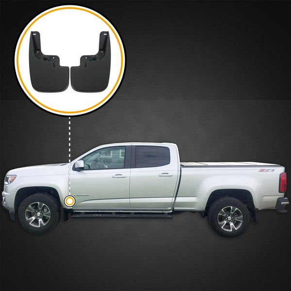 Red Hound Auto Front Molded Mud Flaps Compatible with Chevy Colorado GMC Canyon (Without Flares)