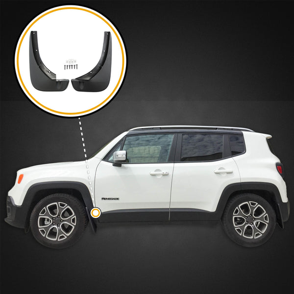 Red Hound Auto Heavy Duty Molded Mud Flaps Compatible with 2015-2019 Jeep Renegade Splash Guards Front 2pc Set (Will not fit Trailhawk)