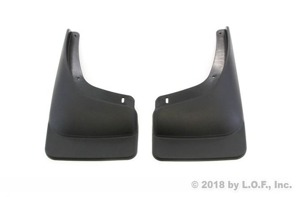 Red Hound Auto Compatible with Chevrolet GMC Silverado Sierra 1500 2500 3500 (1999-2006) Mud Flaps Splash Guards Front Molded 2pc Pair (for Vehicles Without Fender Flares)