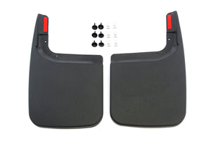 Red Hound Auto Compatible with Ford (2017-2019 F-250 F-350 Super Duty) Mud Flaps Splash Guards Rear Molded 2pc Pair (for Vehicles Without Fender Flares)