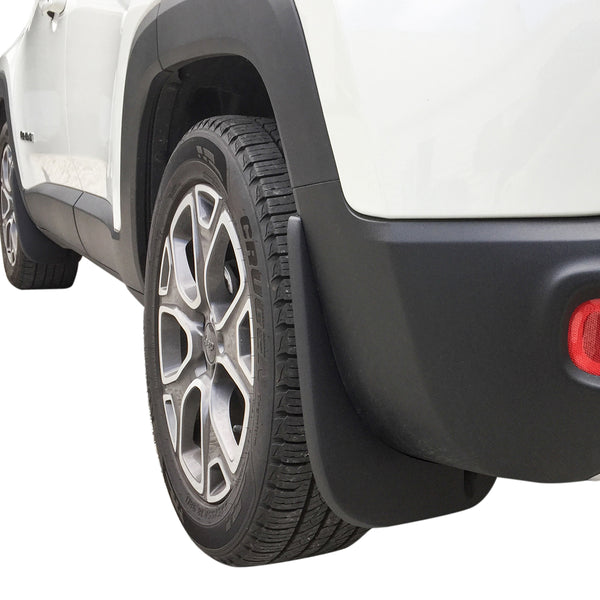 Red Hound Auto Premium Heavy Duty Molded 2015-2018 Compatible with Jeep Renegade Mud Flaps Guards Splash Front & Rear Full 4pc Set