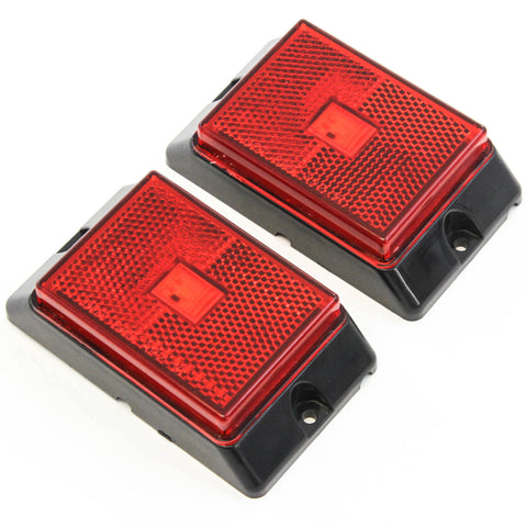 2 Red LED Side Marker Lights 4 Inches Truck Trailer Pickup Boat Bright