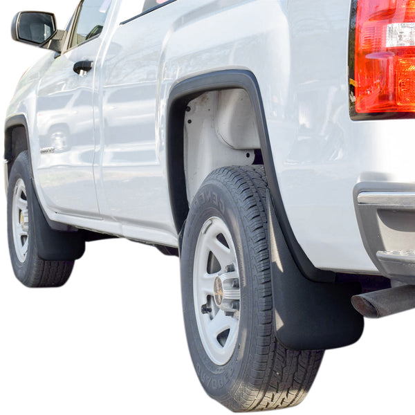 Red Hound Auto Premium Heavy Duty Molded Compatible with 2014-2018 GMC Sierra 1500 & 2019 1500 Limited & 2015-2019 2500 3500 Mud Flaps Guards Splash Front & Rear 4pc Set
