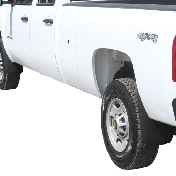 Premium Heavy Duty Molded 2007-2013 Compatible with Silverado 1500 Mud Flaps Guards Splash Front & Rear 4pc Set