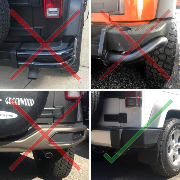 Red Hound Auto Premium Heavy Duty Molded 2007-2018 Compatible with Jeep Wrangler JK JKU Mud Flaps Guards Splash Flares Front Rear 4pc Set
