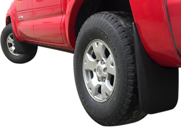 Red Hound Auto Custom Fit Mudguard for Select Toyota 2005-2015 Tacoma Models - Rear
