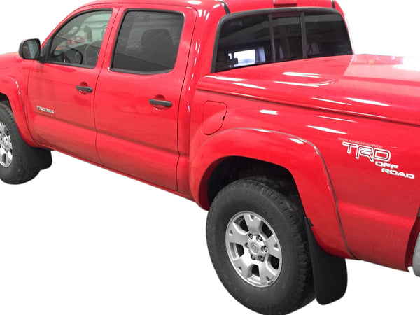 Red Hound Auto Premium Heavy Duty Molded 2005-2015 Compatible with Toyota Tacoma Mud Flaps Guards Splash Front & Rear 4pc Set (with OEM Fender Flares)
