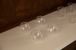 Double-walled glass tea cups