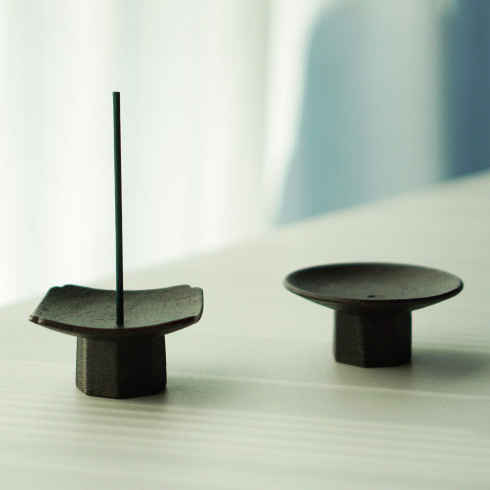 Black Clay Incense Holder