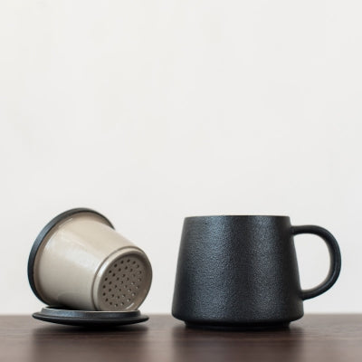 Tea Caddy and Ceramic Tea Mug