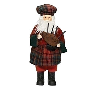 "Roman, Inc. 12"" Scottish Santa Figurine"