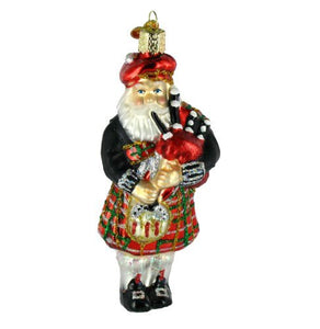Old World Christmas Ornaments: Highland Santa Glass Blown Ornaments for Christmas Tree